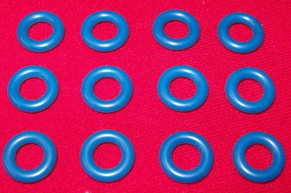 Blue Smooth Model Toy / Tires Car Tyres (Price per set of Twelve)